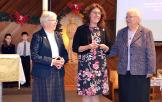 Sœur Michelle Garlinski prononce ses premiers vœux